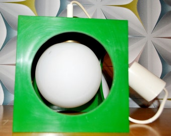 Richard vinegar vintage space age lamp cube 70s