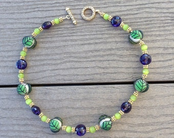 Elegant Necklace, Artistic Necklace, Colorful Jewelry