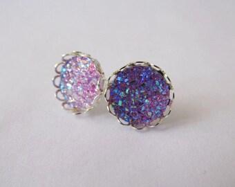 SALE* Princess Crown Earrings – Purple Series