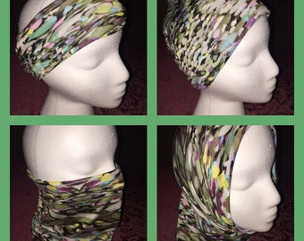 Versatile Headband/Hat/Face Shield all in one! Funky