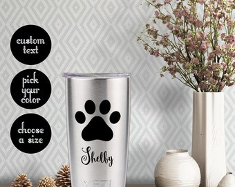 Animal Lover's Paw Decal with customizeable name text