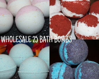 WHOLESALE 30 3 oz Bath Bombs- Bulk Discount