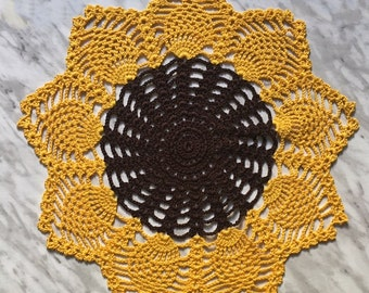 Sunflower Crochet Doily