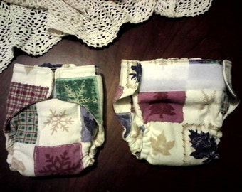All in one cloth diaper, adjustable from NB to over a year!