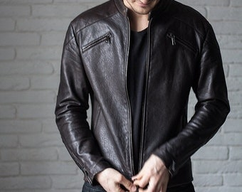 Men's leather jacket, biker jacket men, leather biker jacket, leather biker jacket men.