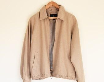 Cream Lightweight Jacket - London Fog Vintage - Medium