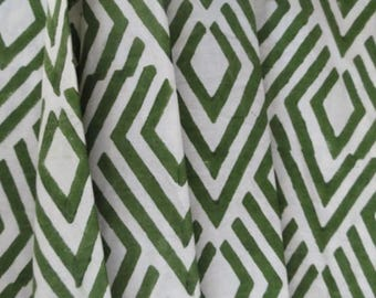 Green And White Modern Upholstery Fabric