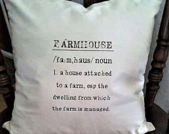 "Farmhouse Definition Pillow Cover 18x18"""