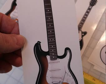 Fender Stratocaster, Strat printed contour cut window/bumper sticker outdoor