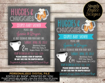 Huggies and Chuggies Baby Diaper Shower