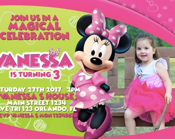 Disney Mickey Mouse Club House Birthday Invitation with Photo - We deliver your order in record time!, less than 4 hour! Best Value - MICKEY