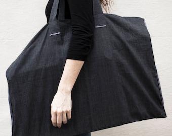 PLANTUFA Artist bag, tote bag, cotton beach bag, cotton tote bag, market Bag, reversing bag, organic, handmade.