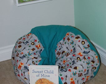 Reading nook etsy for Teal reading chair