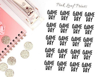 CLEAR | Game Day | Lettering Planner Stickers | Mini Sheet