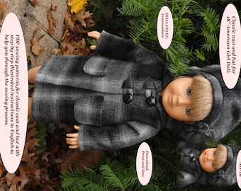 Doll Clothes PDF Pattern for 18'' American Girl by NVME AG-16
