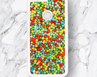 Google Pixel Colorful Beads Phone Case, HTC Pixel XL, Round Kids Candies, Sharp Colourful Balls Pokka Dots Sequence Google Nexus 6 5 4 Cover