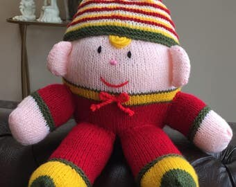 Hand Knitted Humpty Dumpty Doll / Soft Toy (ALL proceeds to charity )