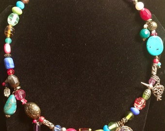 Beads and Charmed necklace