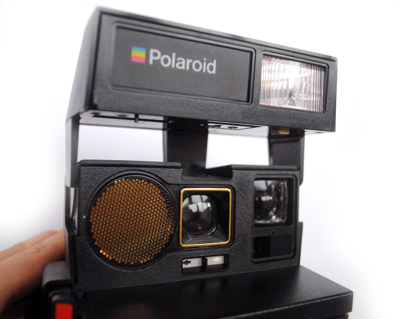 vintage 1980 39 s polaroid camera supercolor 670 af auto focus folding 600 series film. Black Bedroom Furniture Sets. Home Design Ideas