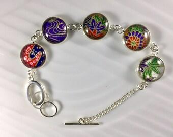 BC5.4 Colorful Japanese Chiyogami Bracelet