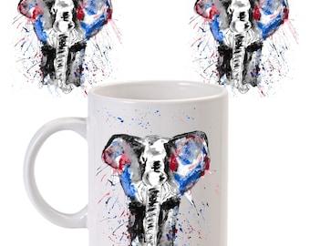 Elephant mug, ceramic mug, elephant ceramic mug, animal mug, elephant gift, elephant lovers, elephant