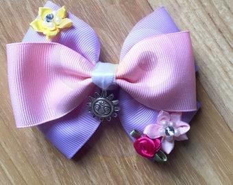 Tangled bow, Tangled headband, Rapunzel bow, Rapunzel headband, Princess bow, Princess headband