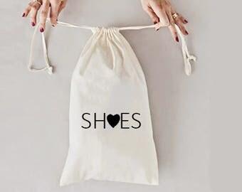 Shoe bag, wedding destination, shoes bag, shoe travel bag , bridesmaid shoe bag, travel bag, honeymoon gift, bridesmaid gift, shoe bags