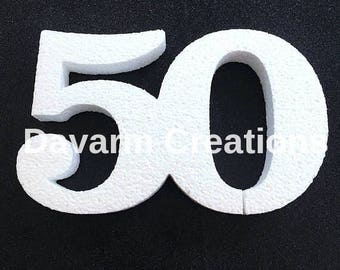 50/50th /50th Anniversary/50th Birthday/Mom 50th/Dad 50th/50th Party Decorations/50th Cake Topper/50th Birthday/50TH Centerpieces/50 Party.