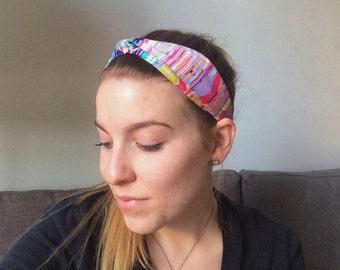 Rainbow Paradise Twisted Headband