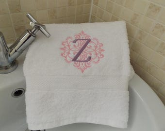 Personalised Monogrammed Hand Towel Wedding Birthday Gift Present