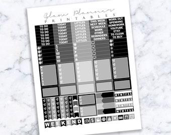 Printable Planner Stickers: 09 (Erin Condren Life Planner PDF)