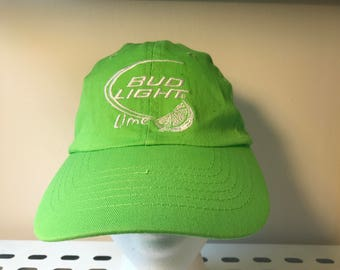 BUD LIGHT LIME // Neon Green // 6 panel low profile hat