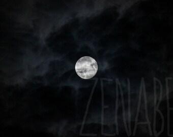 Full moon - Photo print high quality