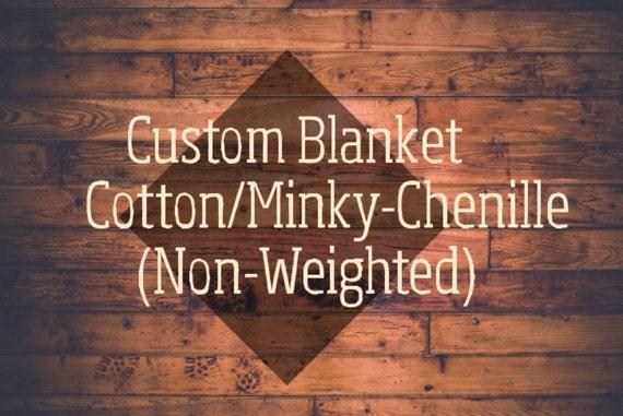 Custom Minky Blanket, Baby Blanket, Chenille Blanket. Minky Throw, Chenille Throw, Twin Minky Blanket