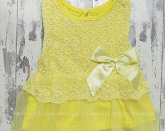 Yellow Baby Dress, Baby Girl Dress, Belle Dress Outfit, Birthday Dress, Toddler Dress, Princess Dress, Yellow Birthday Dress, School Dress