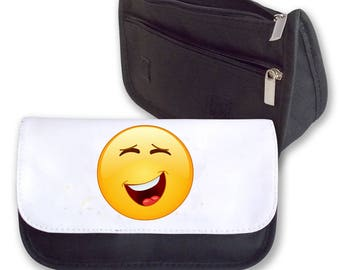 Emoji Smilie LAUGHING Pencil Case / Clutch or Make up Bag