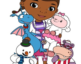 Doc Mcstuffins Group - svg, pdf, png file