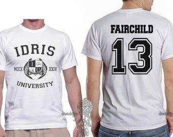 Fairchild 13 Idris University printed on MEN tee White