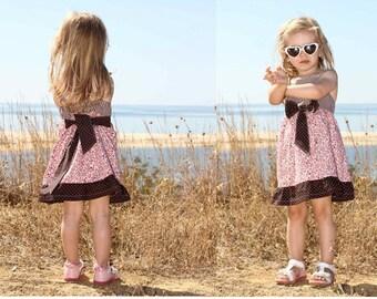 ALINA bow dress – sizes 62-104 (6mo-4/5yr)