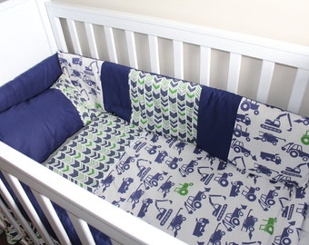 Construction themed cot set