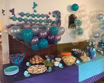 40 Balloons Decoration Kit, Mermaid, Under The Sea, Frozen, Birthday, Baby  Shower Or Wedding, Purple, Lavender, Baby Blue, Teal Or Aqua