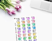 WATERING CANS small Planner Stickers CAM00287