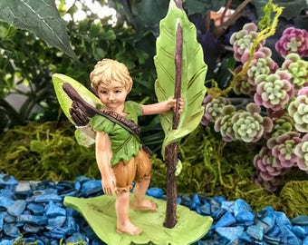 Miniature River Elf on Leaf