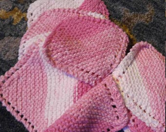 RESERVED FOR lADYnICOLE LOVE Pink washcloths