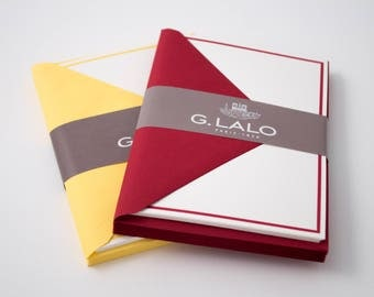 "G. Lalo blank flat cards (4.25"" x 6"") with envelopes: simple stationery for invitations, notes, and more"