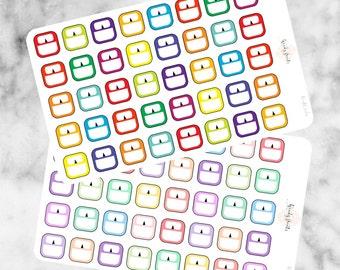 W122 Weight Scales Stickers, Weightloss Stickers, Fitness Planner Stickers, Brights, Pastels, Erin Condren, Filofax, Mambi, KikkiK, Cute