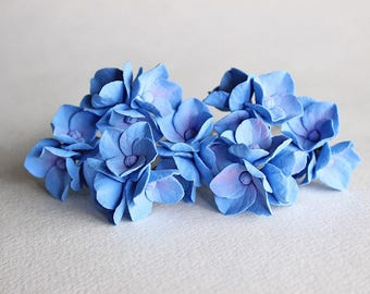 Hairpins with blue hydrangea flowers, blue Floral hair clip,  hydrangea hair pin, blue hydrangea piece, blue Wedding flowers for hair