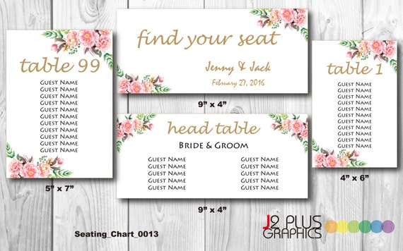 Instant Download Wedding Table Seating Chart Sign, Wedding Seating Plan,  Floral Wedding Seating Chart Printable Template, DIY Editable Pdf  Guest Seating Chart Template