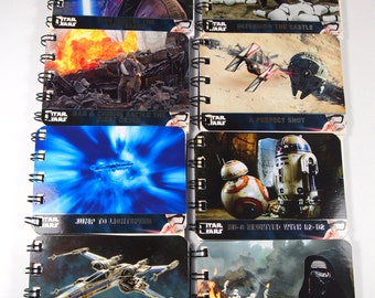 30 Recycled Star Wars Party Favors - Star Wars Birthday Party - Recycled Star Wars Notebooks - Star Wars Force Awakens - Recycled Notebooks
