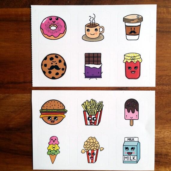 Cute Junk food Stickers